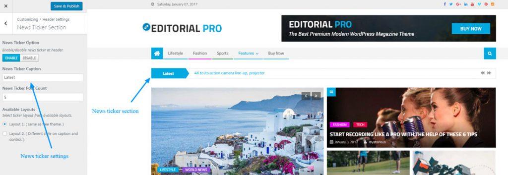 editorial- news-ticker-setting